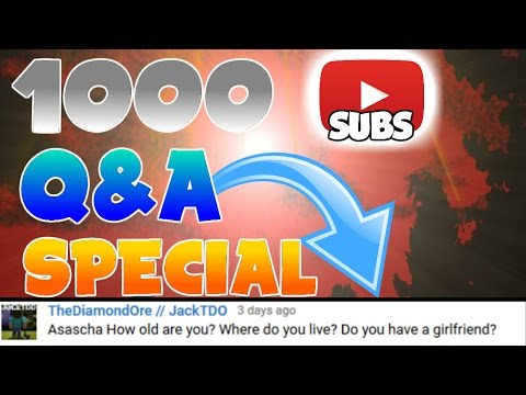 1.000 SUBSCRIBERS Q&A SPECIAL! | ANSWERING YOUR QUESTIONS | HOW TO RECORD VIDEOS? |
