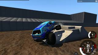 BeamNG.Drive monster jam: For fun small freestyle. Realistic until MaxD