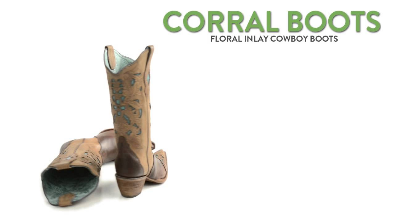5c74faef Corral Boots Floral Inlay Cowboy Boots - Pointed Toe (For Women ...