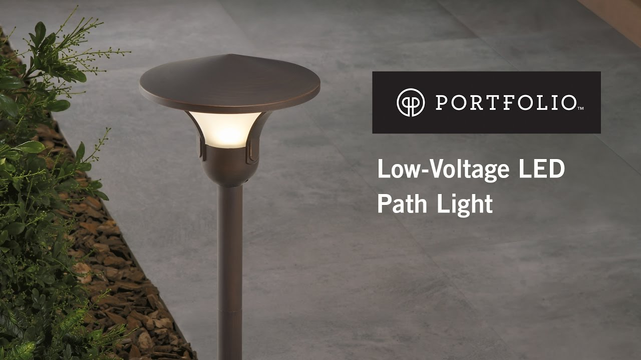 how to install a low voltage landscape path light from portfolio