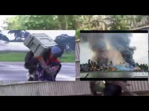 Rohingya Crisis- Myanmar Army destroy and burn Rakhine Rohingya houses