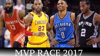 LeBron James vs Russell Westbrook vs  Steph Curry 2017 NBA MVP Race - Who is the Early Favorite?