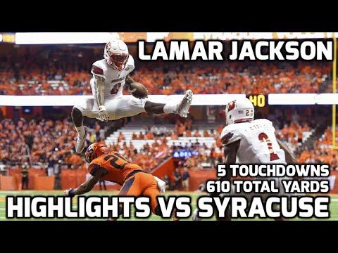 Lamar Jackson vs Syracuse || 2016 Highlights || 610 YARDS 5 TDS
