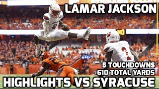 Lamar Jackson vs Syracuse || 2016 Highlights || 610 YARDS 5 TDS thumbnail