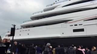 Launch of CRN super yacht Cloud 9 in Ancona