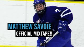 OFFICIAL Matthew Savoie MIXTAPE!!! Best PROSPECT Since Connor McDavid?