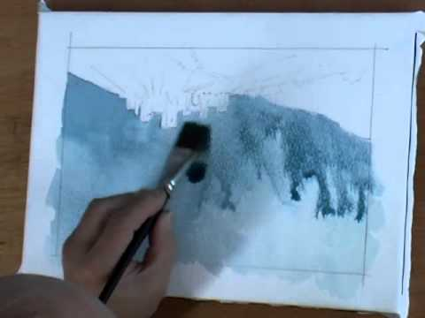 How To Paint A Stormy Atmospheric Sky In Watercolors