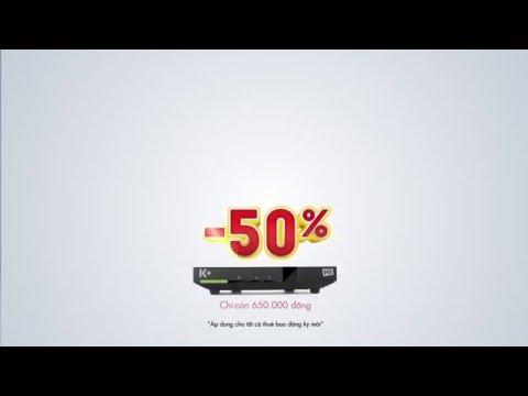 K+ khuyến mại sốc, giảm giá 50% trọn bộ thiết bị HD từ 29/3 đến 10/4