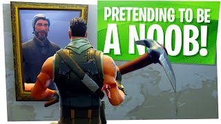 I Pretended to be a Default Skin Noob in Fortnite - Fortnite Trolling