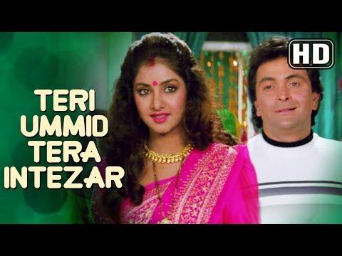 Teri Ummid Tera Intezar Karte Hai  (HD) - Deewana Song - Rishi Kapoor - Divya Bharti - Filmigaane thumbnail
