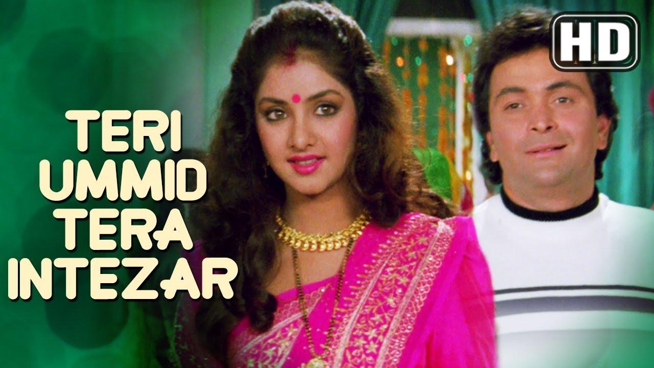 Download Teri Ummid Tera Intezar Karte Hai  (HD) - Deewana Song - Rishi Kapoor - Divya Bharti - Filmigaane