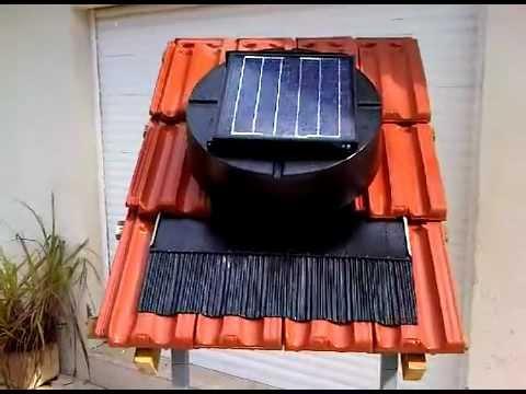 להפליא מפוח סולארי לגג רעפים - מבחן אטימות לגשם - YouTube TD-72