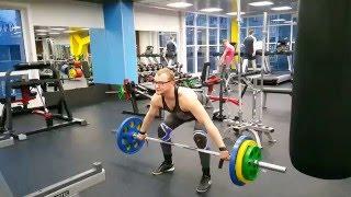 Тяга рывковая 110 кг с задержкой 14 04 2016