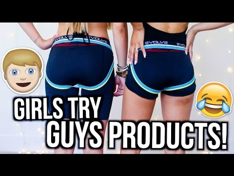 Thumbnail: Girls Try Out Guys Products! | MyLifeAsEva
