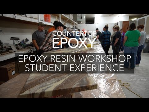 Countertop Epoxy Resin Workshop Student Experience