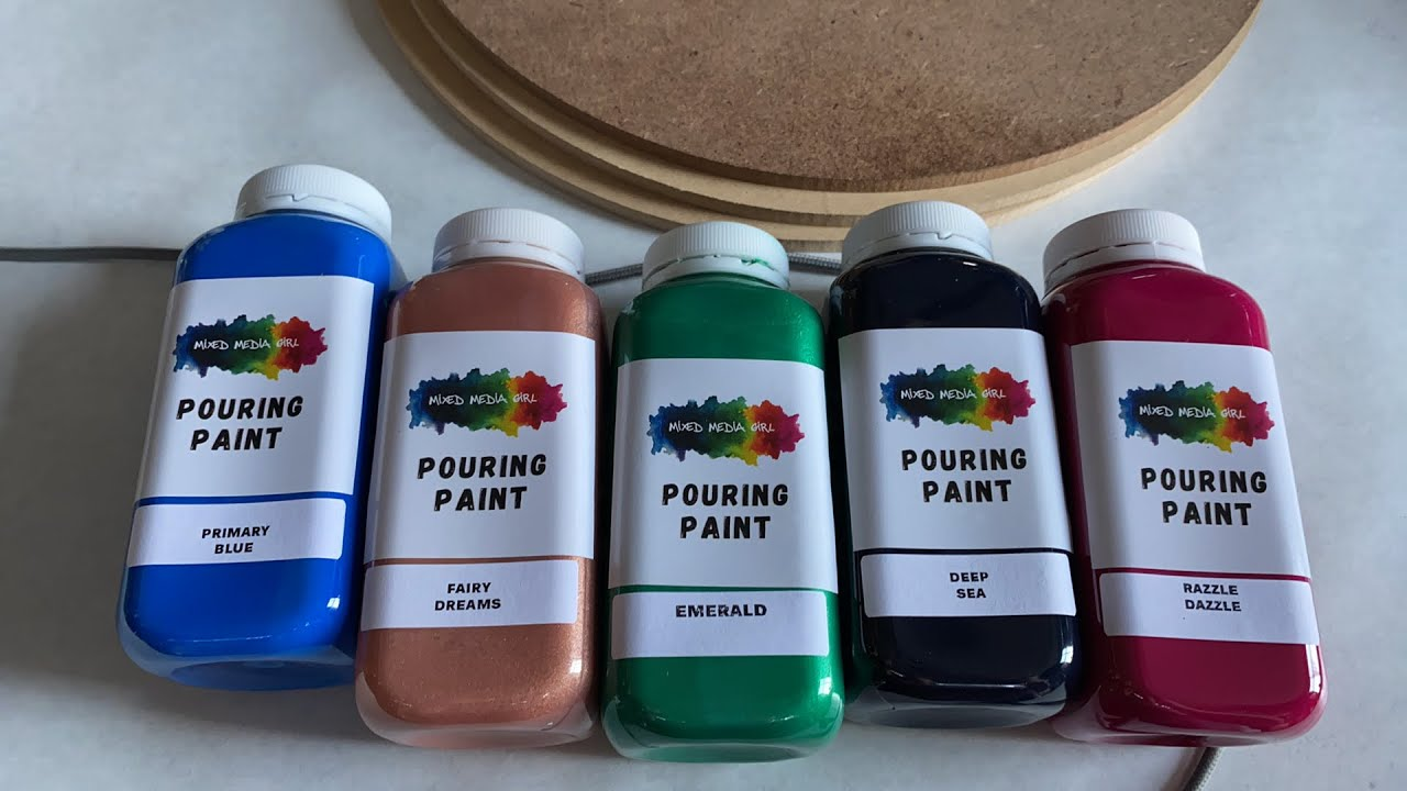 Product Review! Mixed Media Girl Pouring Paint