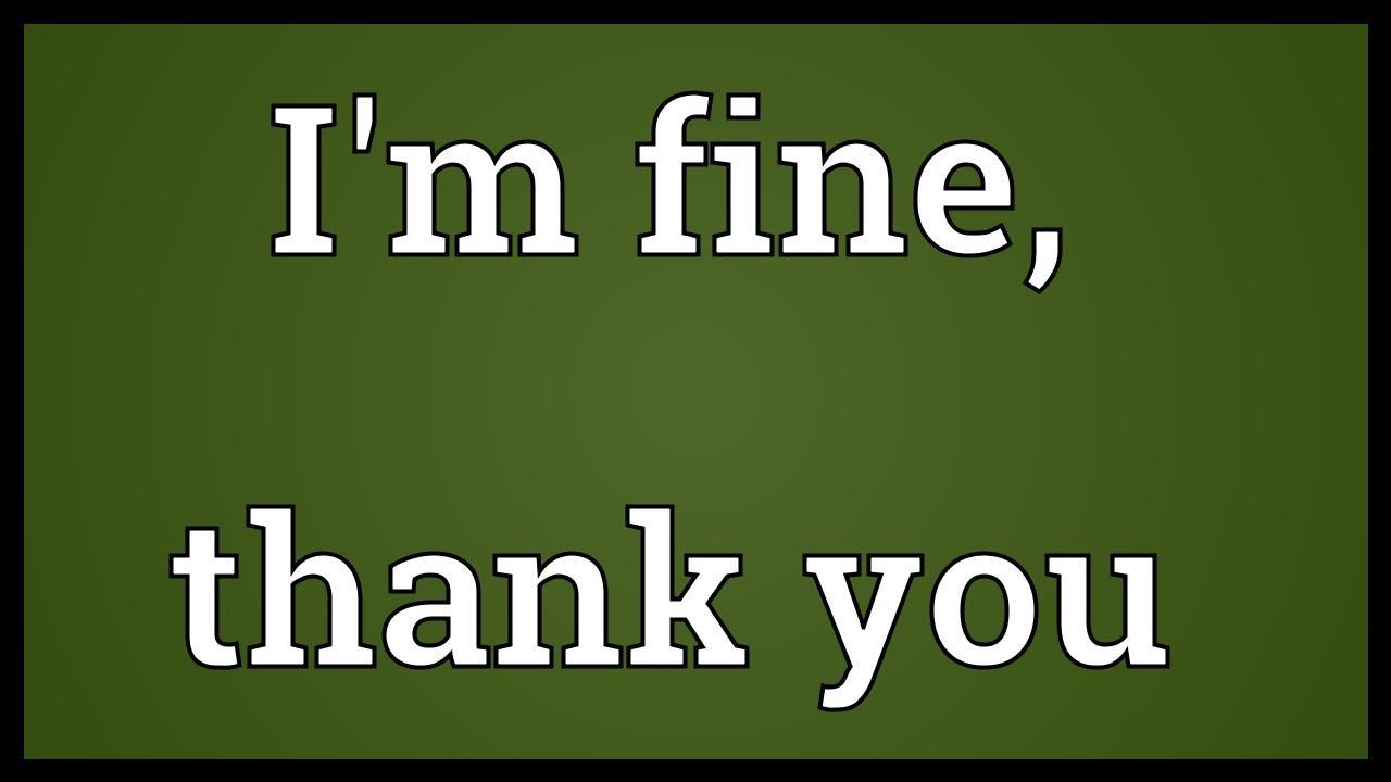 Are You Fine