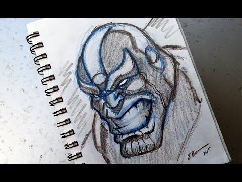 Thanos Pro Marker Drawing   Doovi