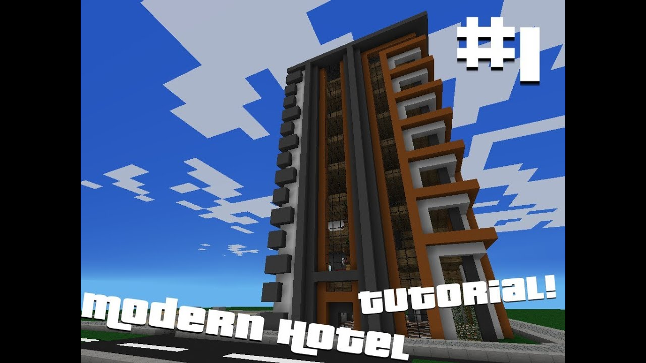 minecraft pocket edition: modern hotel tutorial (part 1) - youtube
