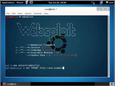 how to attack website websploit kali linux anonymous tutorial