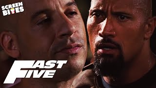 The Rock and Vin Diesel's Furious Confrontation | Hobbs VS Toretto | Fast Five | SceneScreen