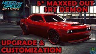 NFS No Limits | Dodge Challenger SRT Demon - 5 stars MAXXED OUT | Customization + Upgrade