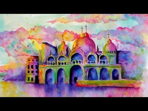 LIVE Watercolor Class // Loose Buildings // Piazza San Marco //Beginner Tutorial