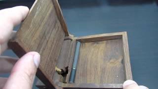 Vintage Old Wood Tobacco Cigarette Dispenser Box Case