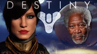 Morgan Freeman Narrates Destiny Beta (PS4)