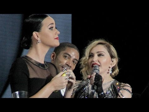 Katy Perry on the stage with Madonna in Los Angeles (Full 702p HD)