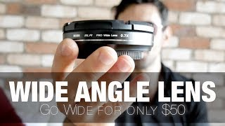 Best Wide Angle Lens Adapter   0.7x is Great for Vlogging on Panasonic G85 GH5