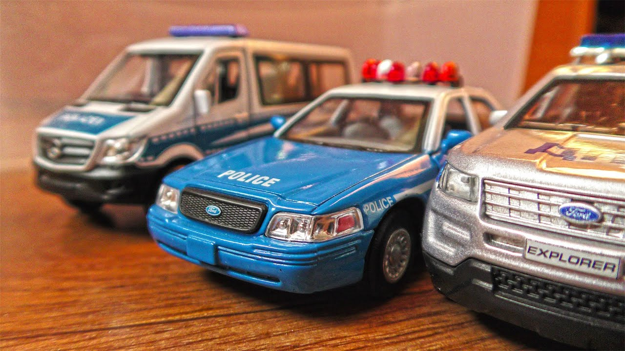 Various Police Cars Out of the Box - 4k