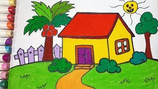 How To Draw A House    Draw For Kids