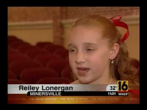 """""""A Night of Music for Tina""""  WNEP TV 16 hosted by 10 yr. old Reiley Lonergan"""