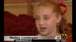 """A Night of Music for Tina""  WNEP TV 16 hosted by 10 yr. old Reiley Lonergan"