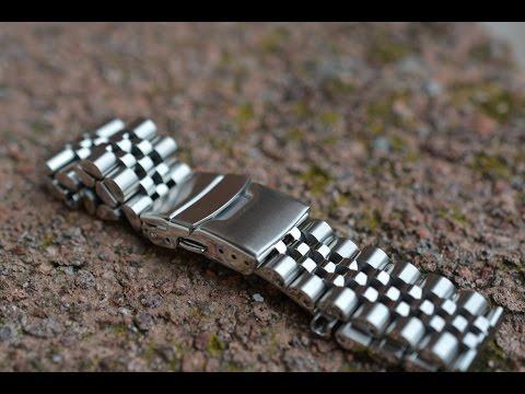 Обзор разных часовых браслетов из нержавейки (22мм) #2