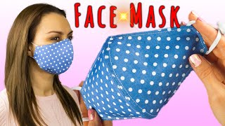 Face Mask Sewing Tutorial Cloth Face Mask DIY Face Mask Pattern