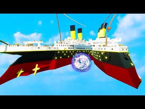 Titanic Enters a Black Hole - Brick Rigs Bricksville