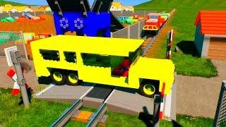 Unstoppable Massive LEGO Train Wrecks - Brick Rigs Smasher Gameplay
