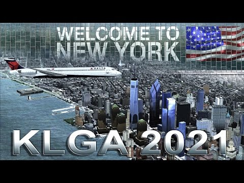 FSX [HD] - Delta Airlines | MD80 | Approach to New LaGuardia Airport