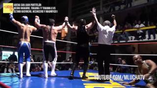 Negro Navarro, Trauma I y Trauma II vs Último Guerrero, Hechicero y Magnífico I