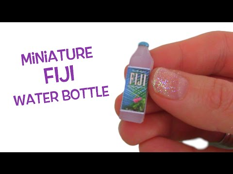 Miniature Fiji Water bottle - DIY Mini Fiji Waterbottle - Tutorial