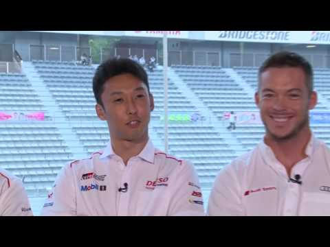 Interview with Kamui Kobayashi, Kazuki Nakajima and Andre Lotterer for the 6hFuji