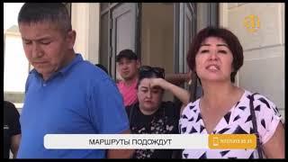 В Шымкенте водители муниципального автопарка отказываются выходить на маршруты