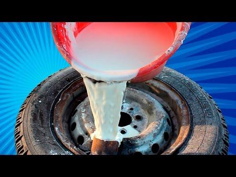 Что будет если НЕНЬЮТОНОВСКУЮ жидкость залить в колеса