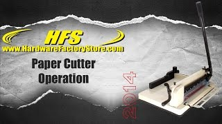 hfs paper cutter clamp adjustment and blade replacement