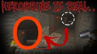 I FOUND the HEROBRINE in Minecraft..