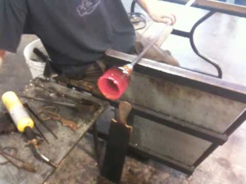 Glass Blowing XVIII - Widening the opening.