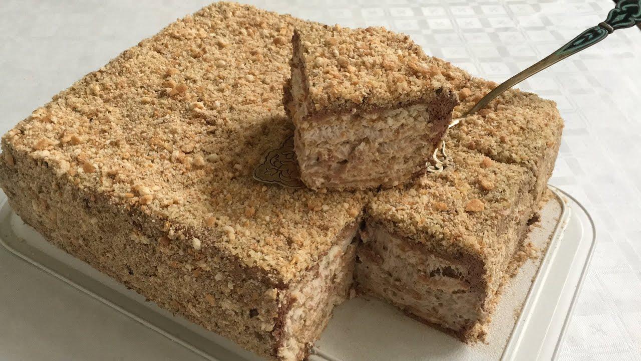 Sobasız,Miksersiz Tort/Peçenyeli Tort/Biskuvili Pasta Tarifi