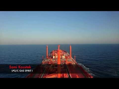 LPG/C Gas Spirit I Time-lapse video during sailing in Mediterranean Sea